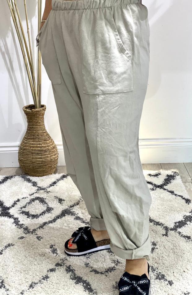 Peasant Pocket Loose Boho Trousers