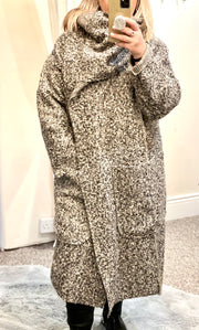Twist Boucle Coat By Made In Italy With Pockets HALF PRICE NOW