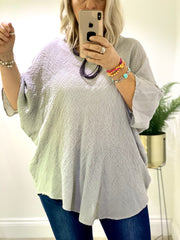 Waffled Cotton Batwing Summer Top Blouse CLICK FOR MORE COLOURS