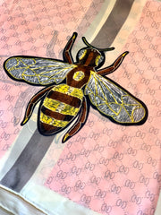 Long Silk Scarf In A Gucci Bee Inspired Design
