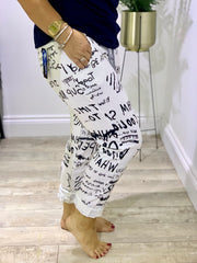 plus size Magic Tracksuit Jogger Graffiti Cargo Pants trousers