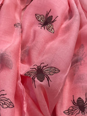 Bee Summer Oversized Scarf Cotton