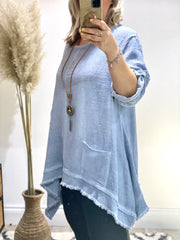 Eden Daphne Cheese Cloth Linen Pocket Top
