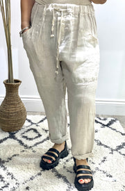 Eden linen Boho Peasant Trouser Bottoms