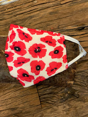 Poppy Print Mask Face Cover,  click here for all colours