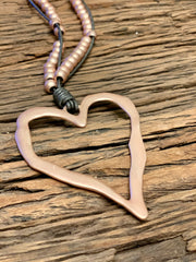 Basic Necklace Heart on Leather