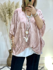 Cheesecloth  Patch Oversized One Button Cross sized Charlotte  top CLICK FOR MORE COLOURS