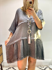 Eden layered Lucy Boho Cheesecloth dress