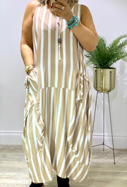 Lagenlook Quirky Boho Parachute Long Stripe Samantha Dress CLICK FOR MORE COLOURS