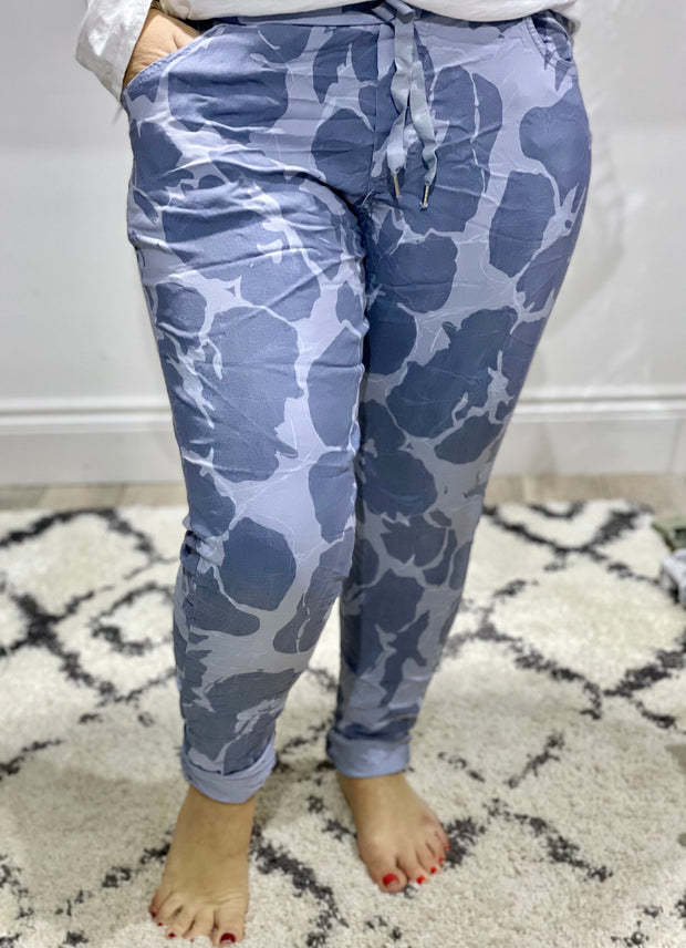 Pansy Flower Magic Joggers Stretch Bottoms