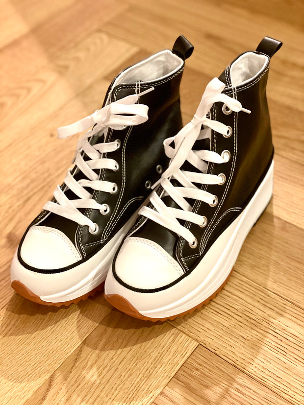 Converse Inspired Hi Platform Hi Top Trainers
