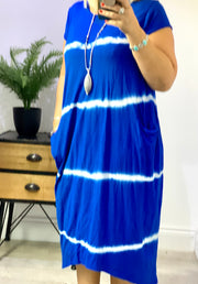 Lagenlook Heavy Quality Tie Dye Sandra Dress CLICK HERE FOR MORE COLOURS