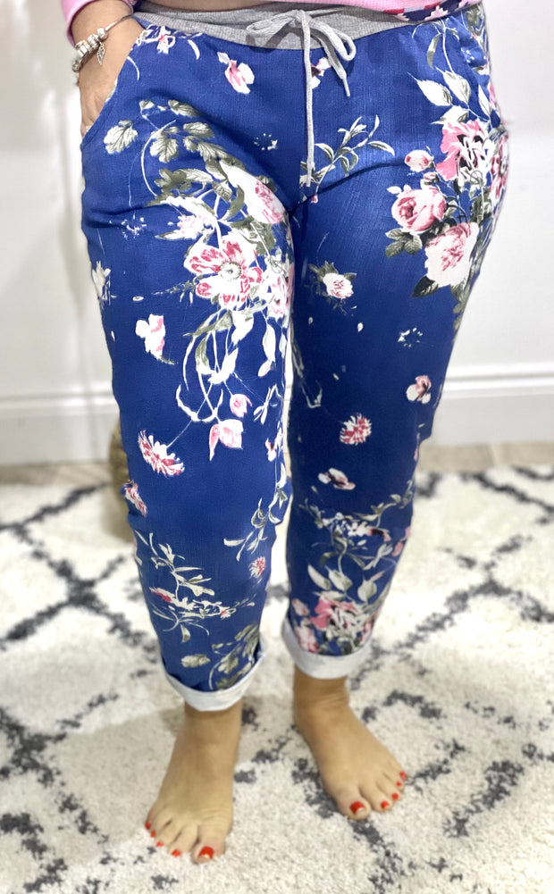 Pretty Flower Blue Magic Pants trousers