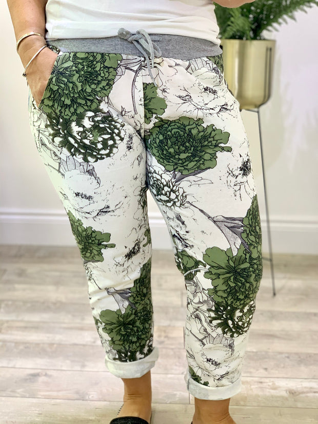 Magic Tracksuit Jogger Green Leaf Cargo Pants