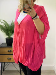 Cheesecloth Oversized One Button Cross sized Charlotte  top CLICK FOR MORE COLOURS
