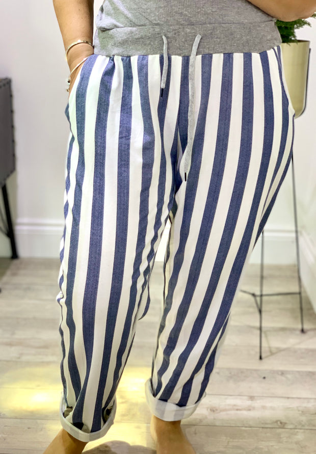 Plus size Magic Tracksuit Jogger Stripe Cargo Pants trousers