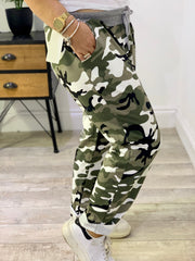 PLUS SIZE Magic Stretch Green Camo  Jogger trousers