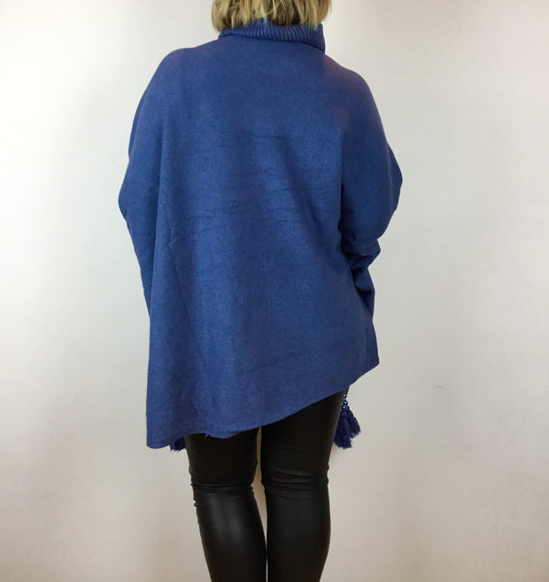 Roll Neck Long Jumper With Tassle Detail