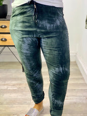 Magic Stretch Cargo Pants tie die Katie Print Bottoms