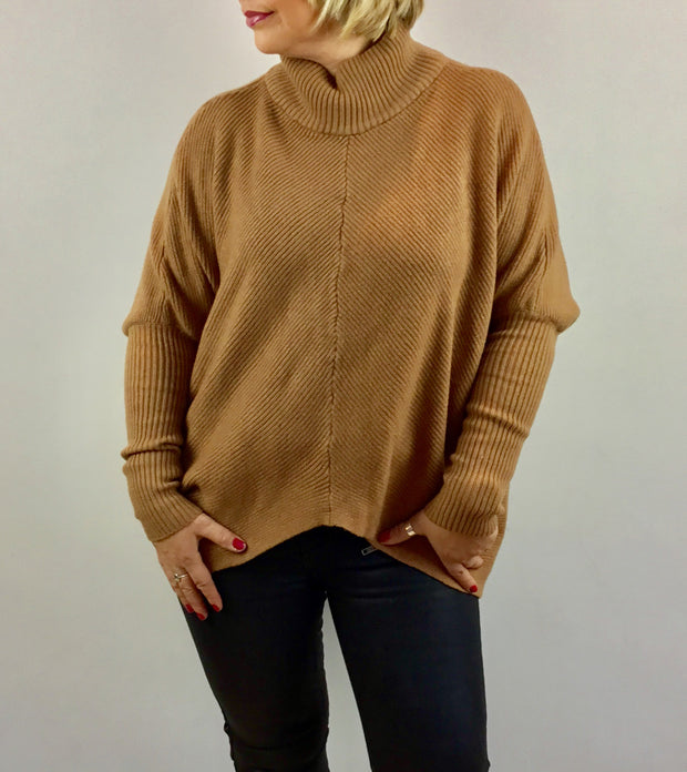 Made In Italy High Neck Uber Jumper
