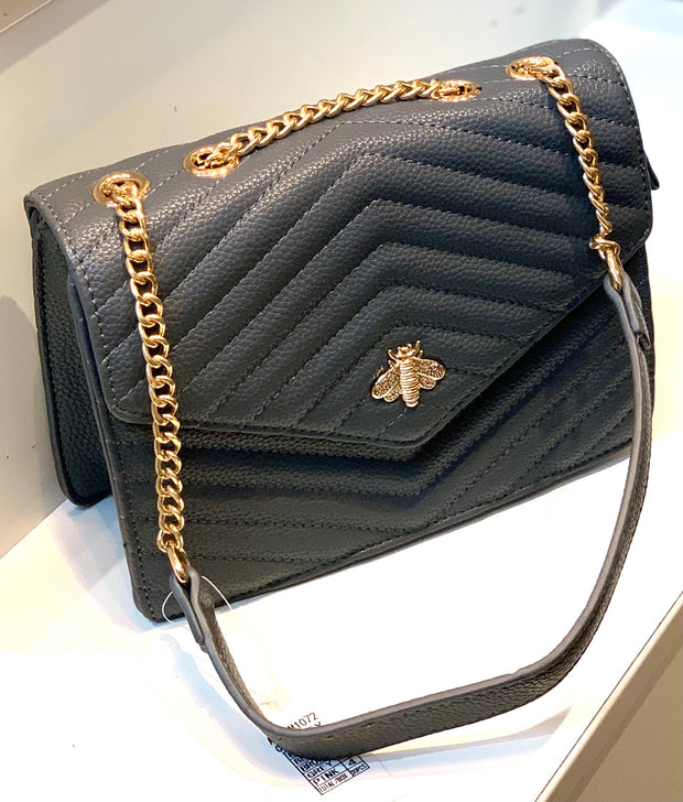 Rectangular Quilted Gucci Inspired Bee Bag