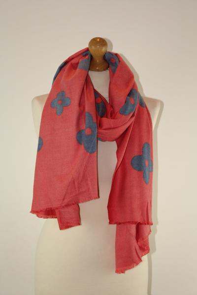 Super Soft Flower LV Long Scarf