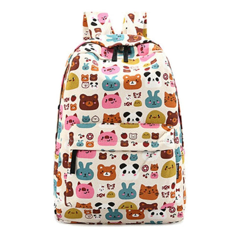 Cute Animal Pattern Backpack