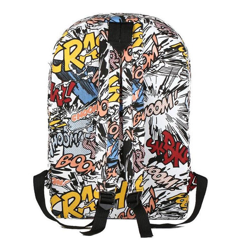 Back of Anime Print Backpack