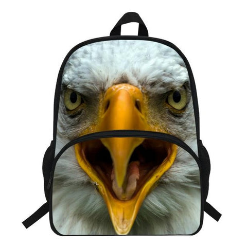 Photographic Eagle Print Backpack