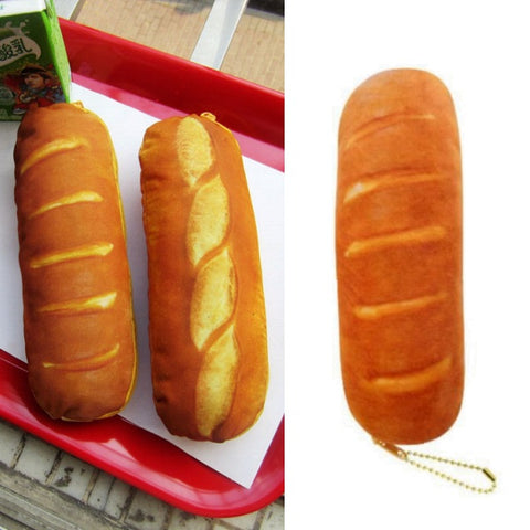 Baked French Bread Pencil Case Bag