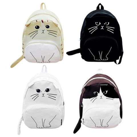 Kids Casual Kitty Cat Backpack