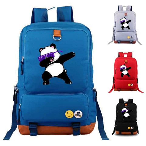Canvas Dabbing Panda Backpack