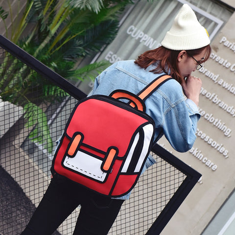 Cartoon Backpack Model