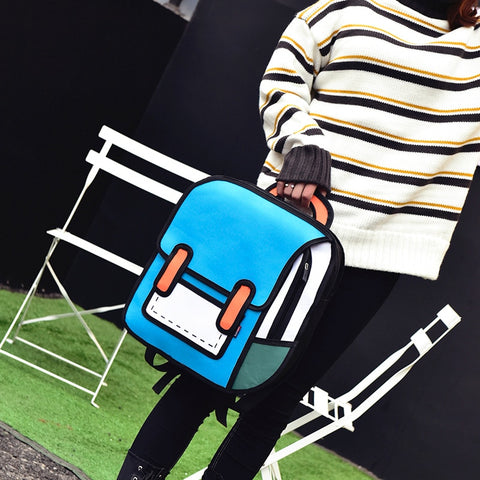 Cartoon Style Handbag Model
