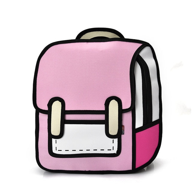 Pink Cartoon Backpack