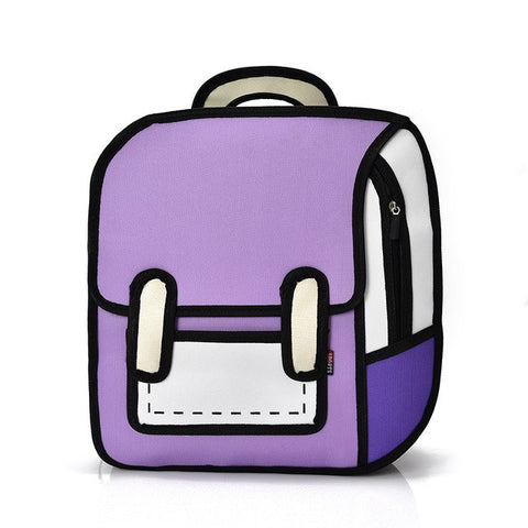 Purple Cartoon Bag