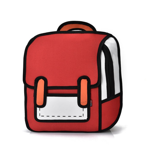 Red Cartoon Backpack