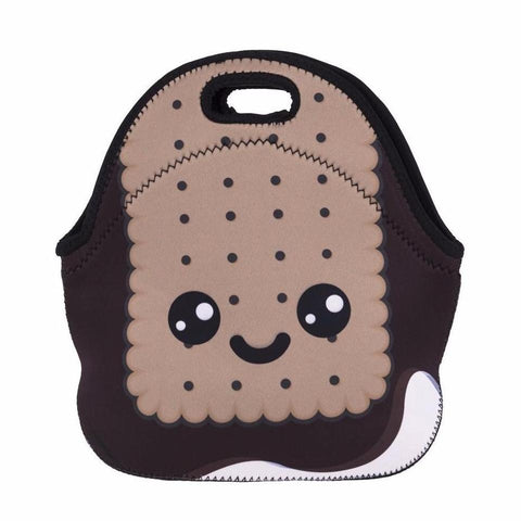 Cute Insulated Neoprene Graham Cracker Lunch Bag