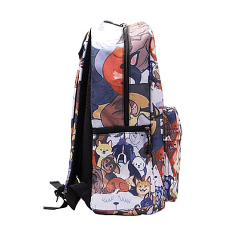 Side of Cartoon Dog Print Backpack