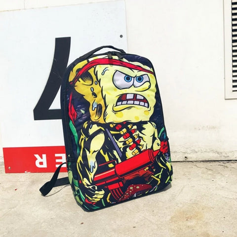 "Funny Rambo Sponge Bob Backpack (17"")"