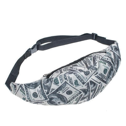 Cash Money Print Fanny Pack Waist Bag