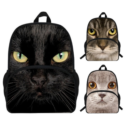 Photographic Cat Print Backpack