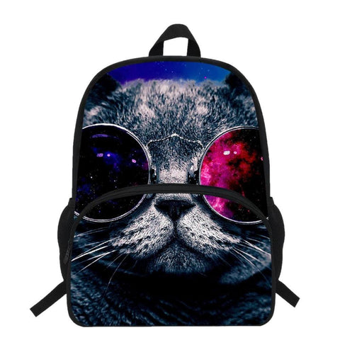 Cool Cat w/ Sunglasses Backpack