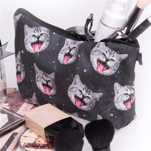 Crazy Cat Pencil Bag