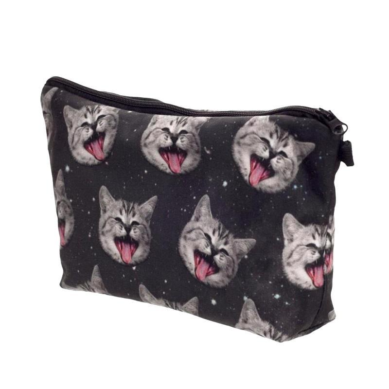 Crazy Cats In Space Cosmetic / Pencil Bag