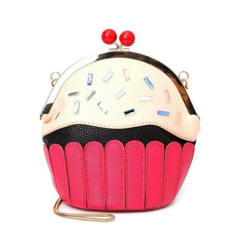 Cupcake Purse / Crossbody Shoulder Bag