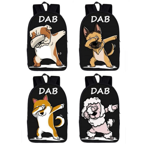 Dabbing Dog Backpack