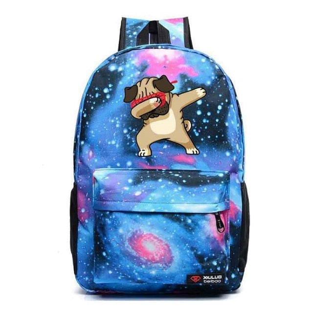 Outer Space Dabbing Dog Backpack