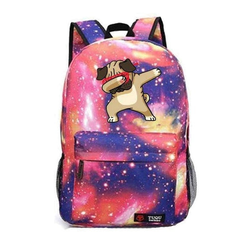 Red Dabbing Dog Backpack