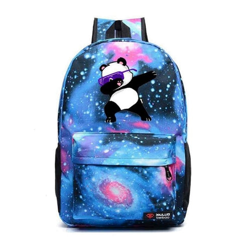 Blue Dabbing Panda Backpack